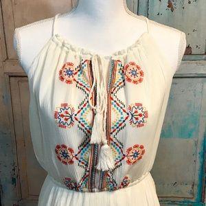 NWOT Aztec inspired boho hippie style maxi dress